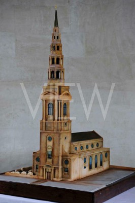 St. Bride's Church cake model, London, United Kingdom. Architect: John Robertson Architects, 2012.