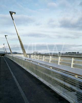 Pedestrian Bridge, UL, Limerick, Ireland. Architect: Murray O'Laoire Architects, 2004.